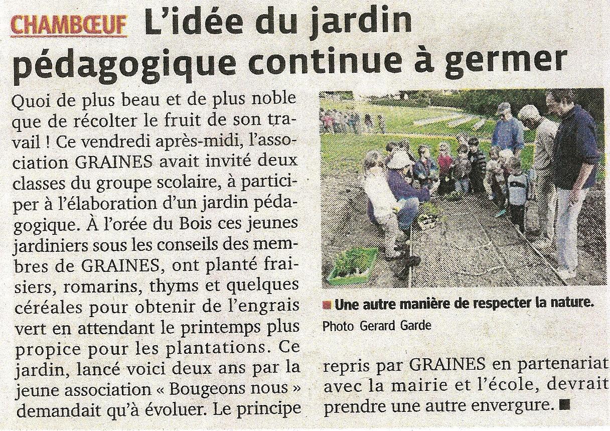Article Jardin 2013
