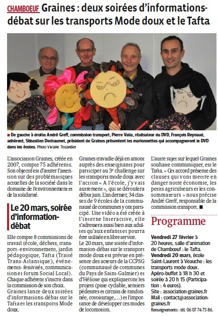 Article du 17 fev 2015 GRAINES